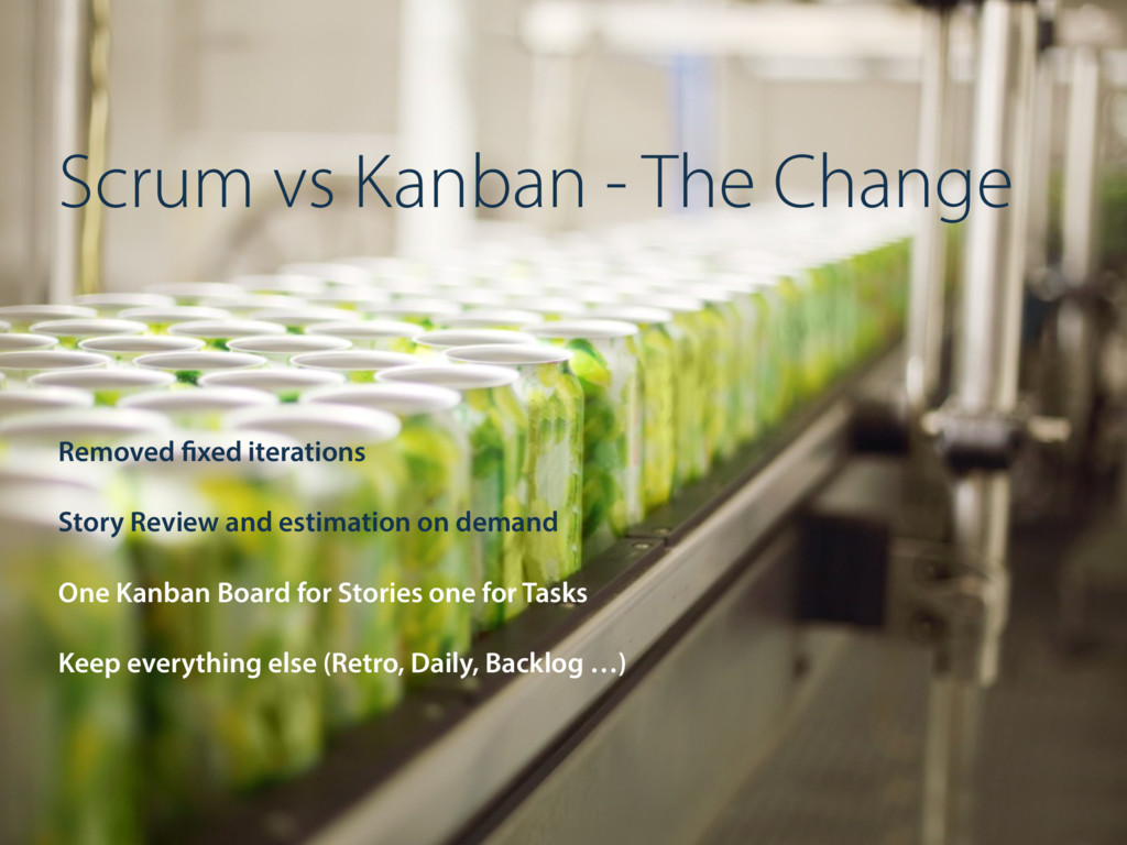 Scrum vs Kanban - The Change Removed fixed iter...