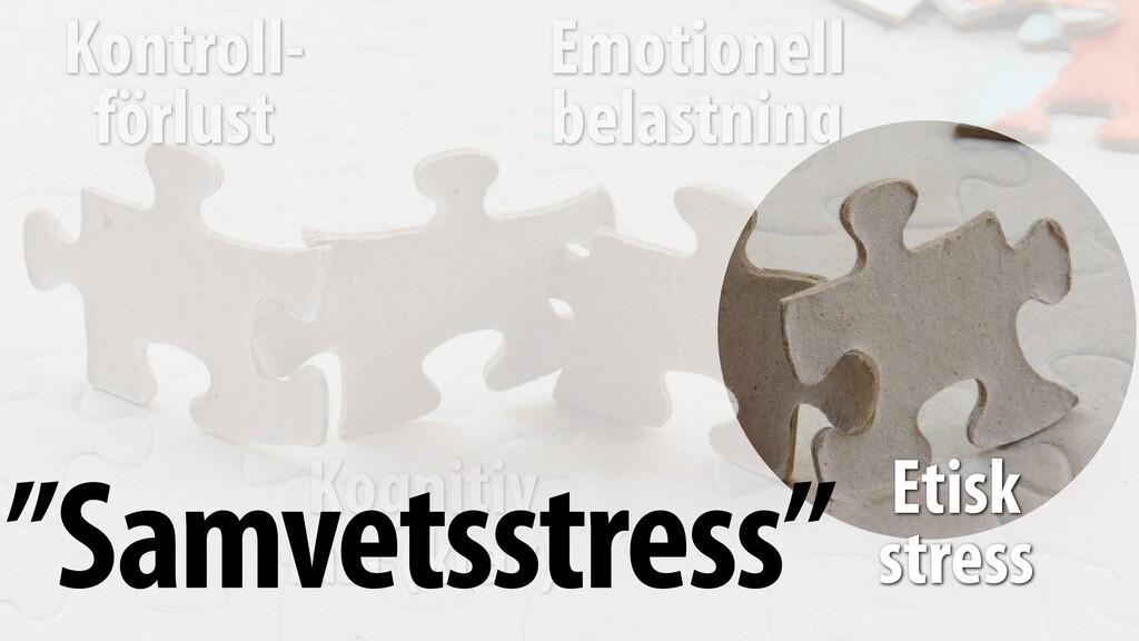 Emotionell belastning Kontroll- förlust Kognit...