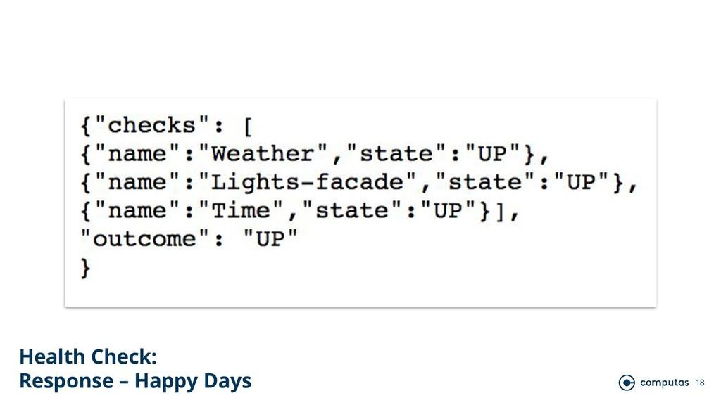 18 Health Check: Response – Happy Days