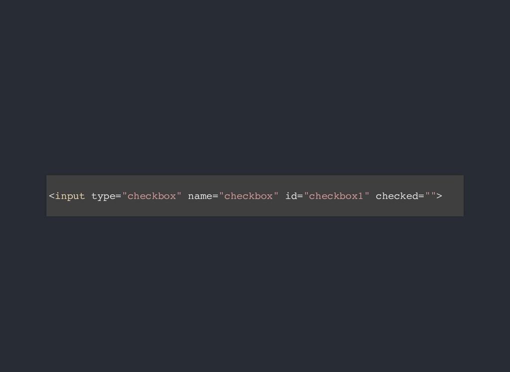 """<input type=""""checkbox"""" name=""""checkbox"""" id=""""chec..."""