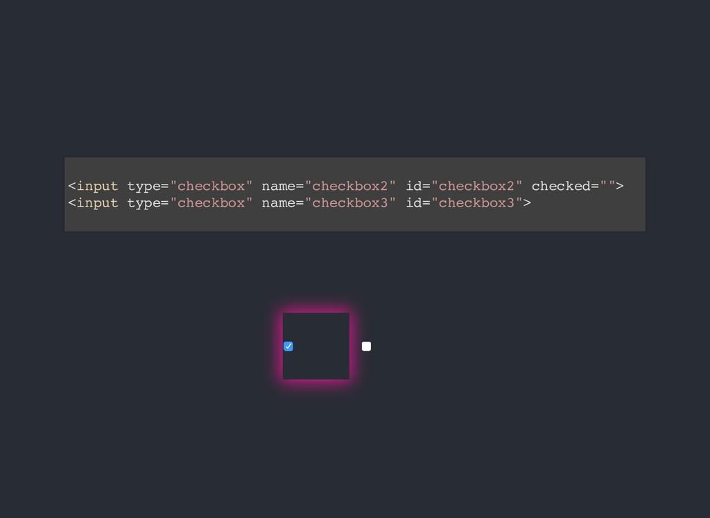 """<input type=""""checkbox"""" name=""""checkbox2"""" id=""""che..."""