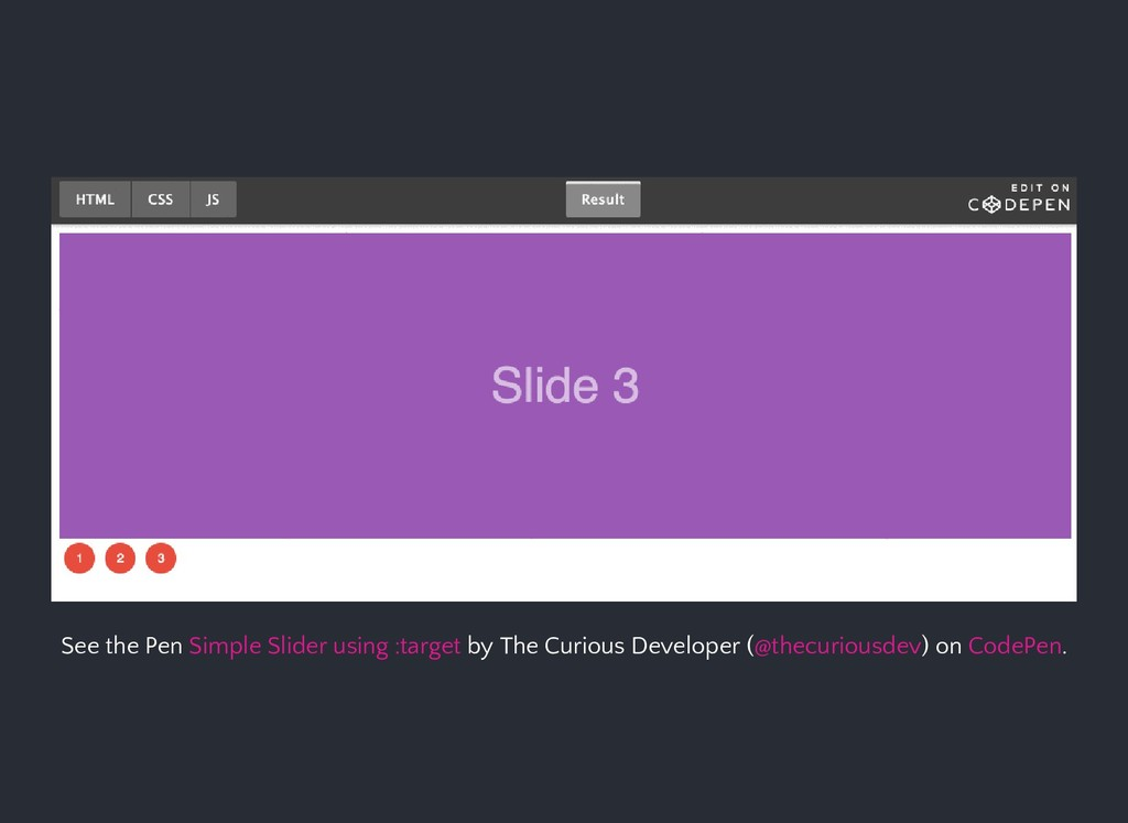 See the Pen by The Curious Developer ( ) on . S...