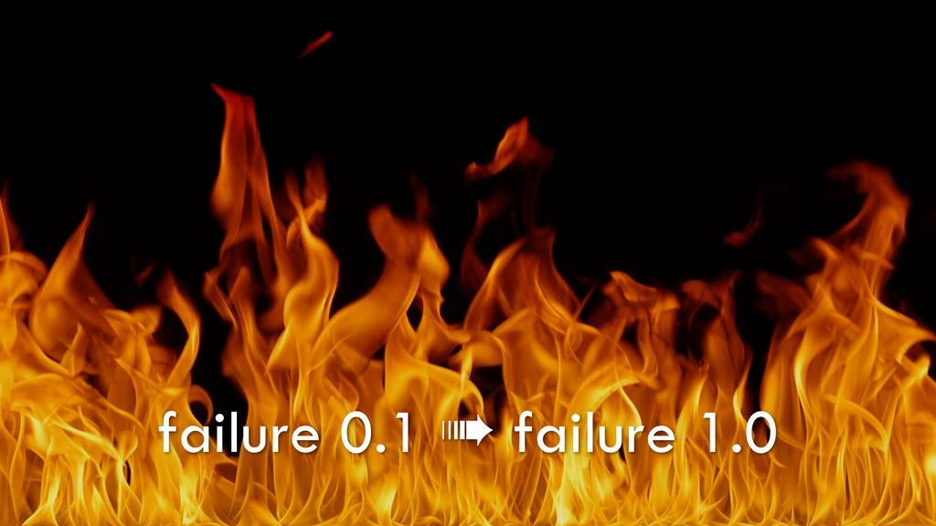 failure 0.1 ➠ failure 1.0