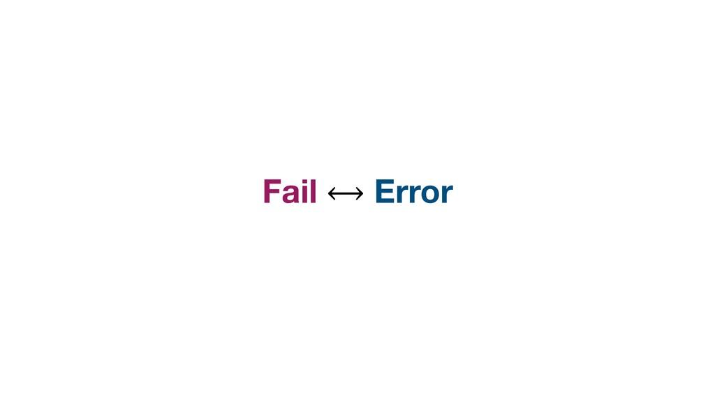 Fail ⟷ Error