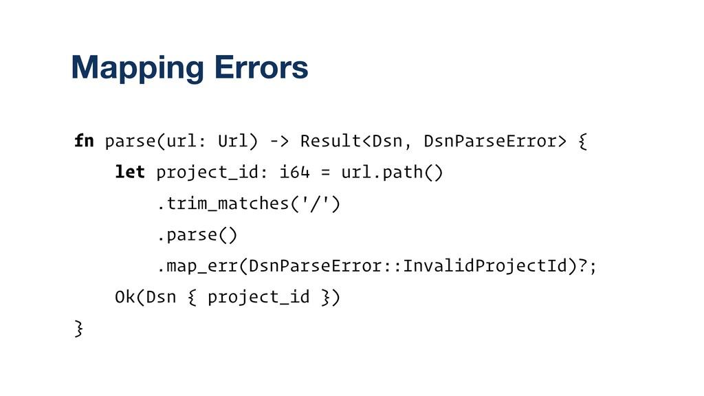 fn parse(url: Url) -> Result<Dsn, DsnParseError...