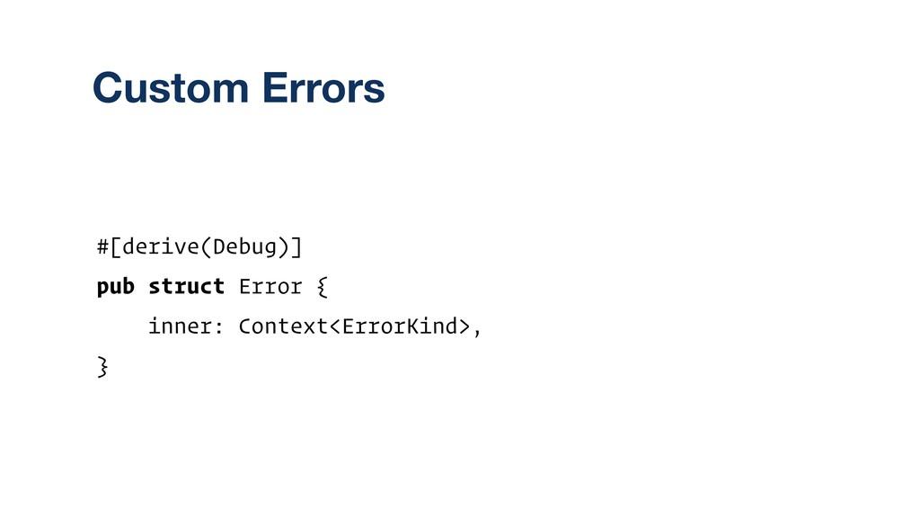 #[derive(Debug)] pub struct Error { inner: Cont...