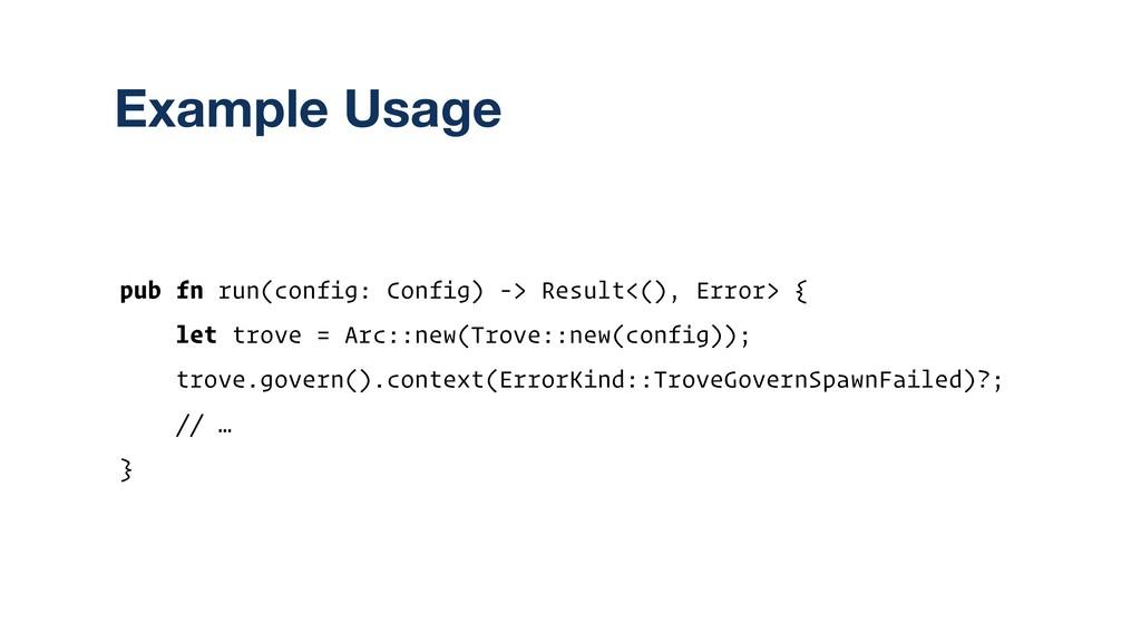 pub fn run(config: Config) -> Result<(), Error>...