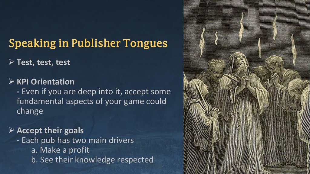 Speaking in Publisher Tongues ➢ Test, test, tes...