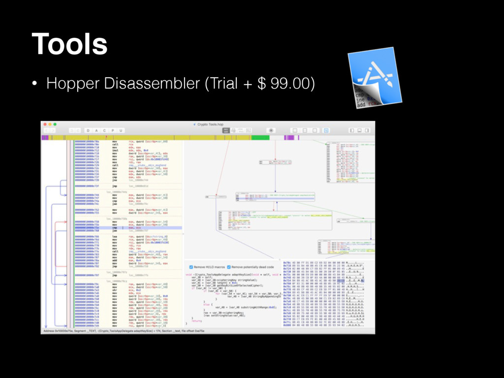 Tools • Hopper Disassembler (Trial + $ 99.00)