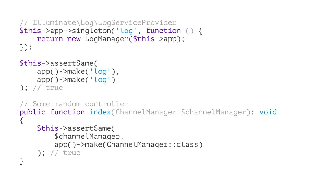 // Illuminate\Log\LogServiceProvider $this->app...