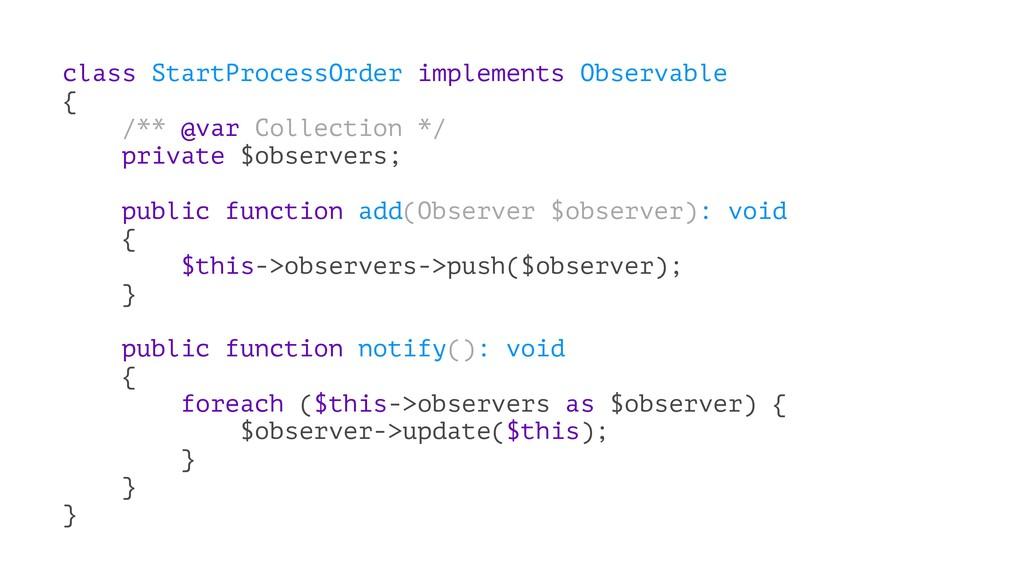 class StartProcessOrder implements Observable {...