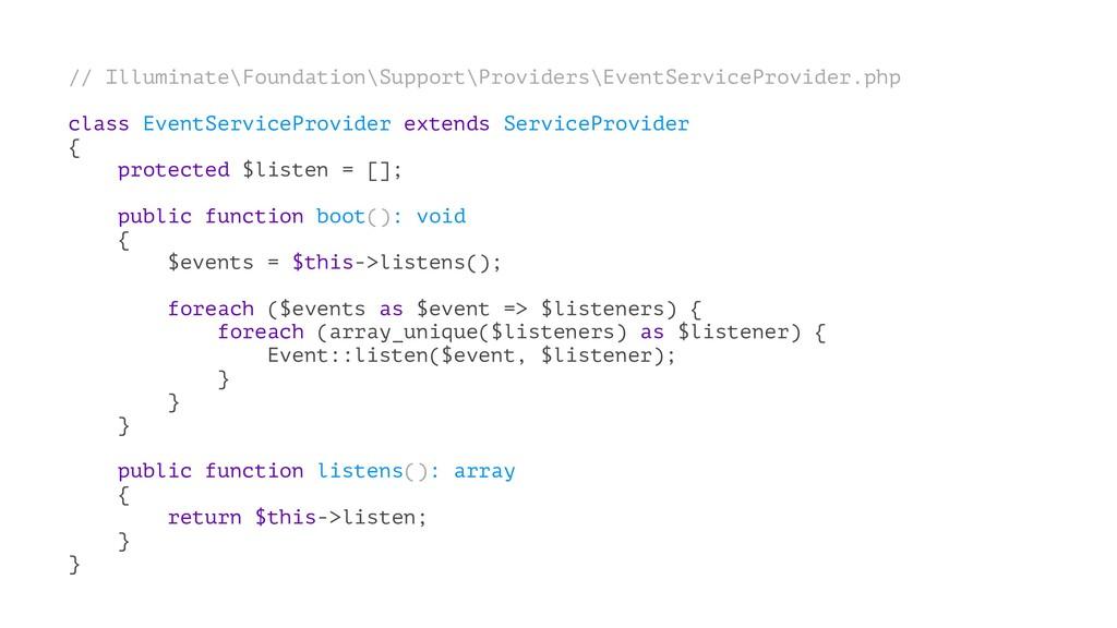 // Illuminate\Foundation\Support\Providers\Even...