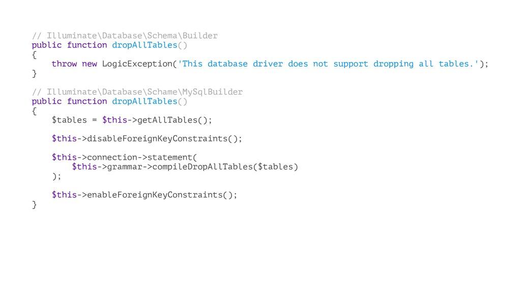 // Illuminate\Database\Schema\Builder public fu...