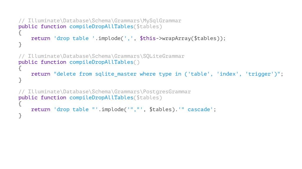 // Illuminate\Database\Schema\Grammars\MySqlGra...
