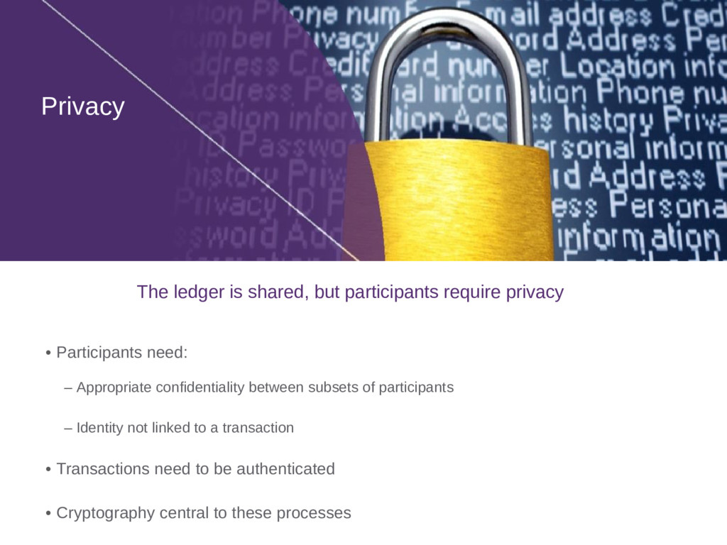 Privacy • Participants need: – Appropriate conf...