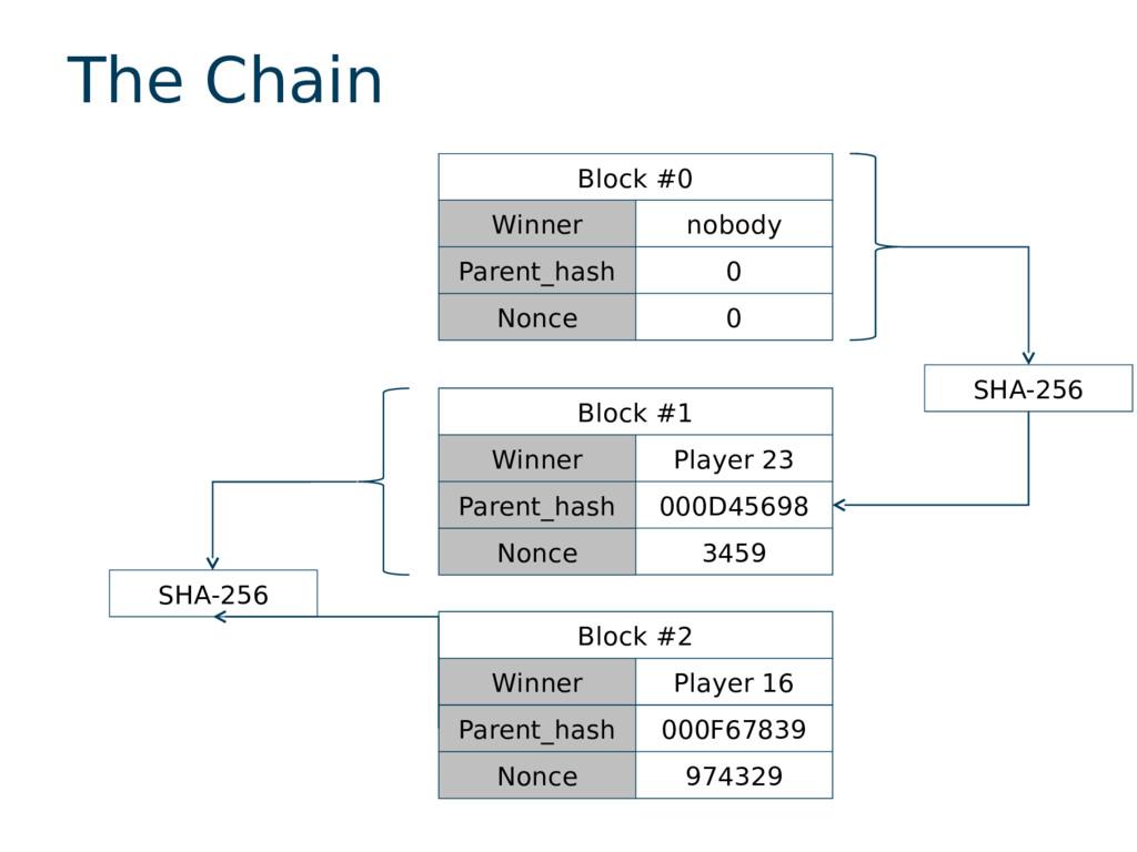 The Chain Block #0 Winner nobody Parent_hash 0 ...