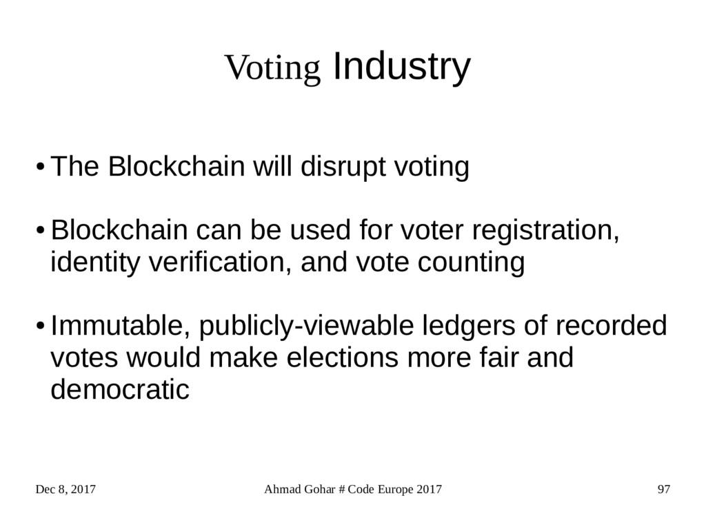 Dec 8, 2017 Ahmad Gohar # Code Europe 2017 97 V...