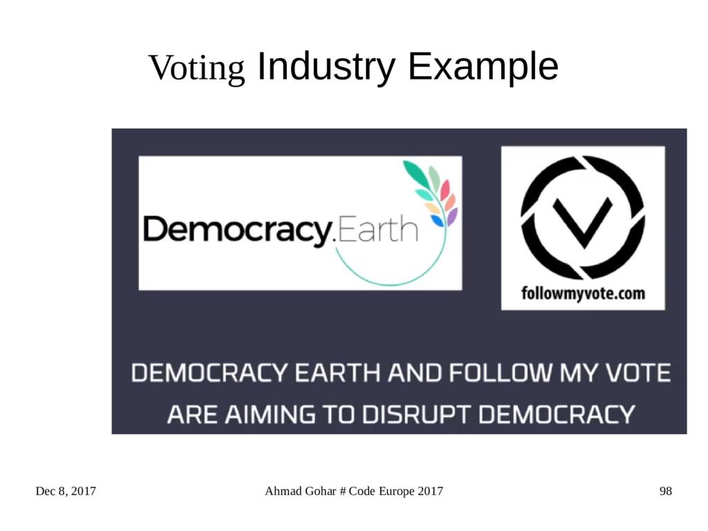Dec 8, 2017 Ahmad Gohar # Code Europe 2017 98 V...