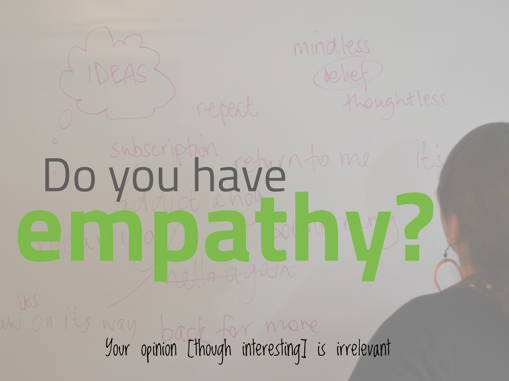 Do you have empathy? Your opinion [though inter...