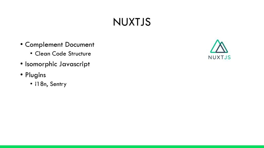 NUXTJS • Complement Document • Clean Code Struc...