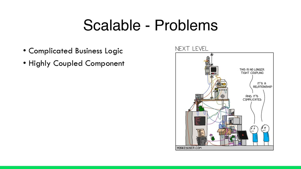 • Complicated Business Logic • Highly Coupled C...