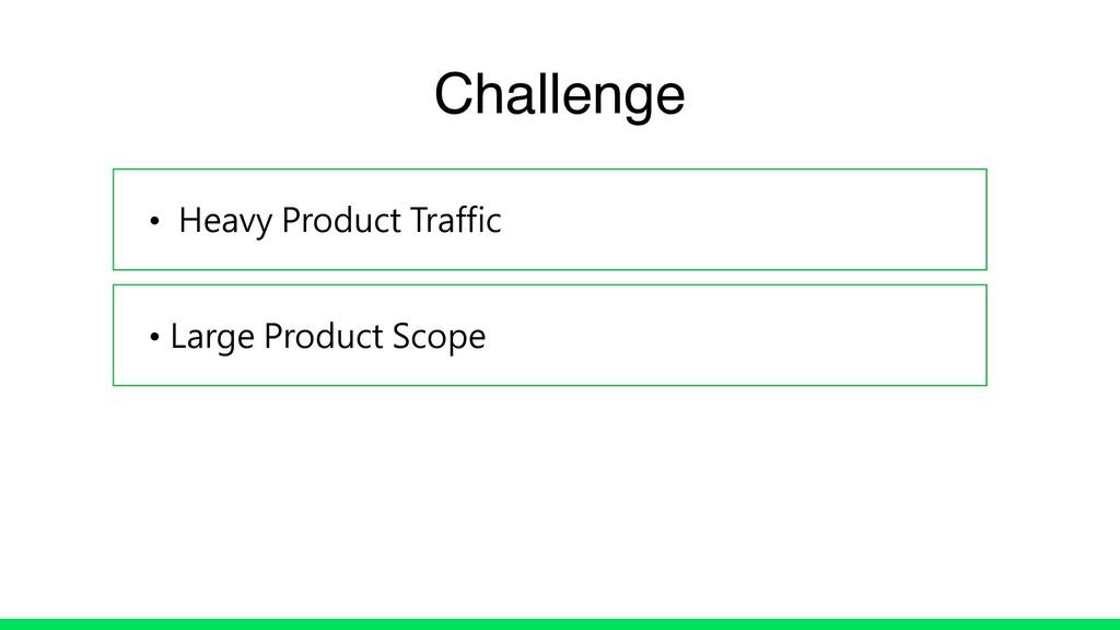 • Heavy Product Traffic • Large Product Scope C...