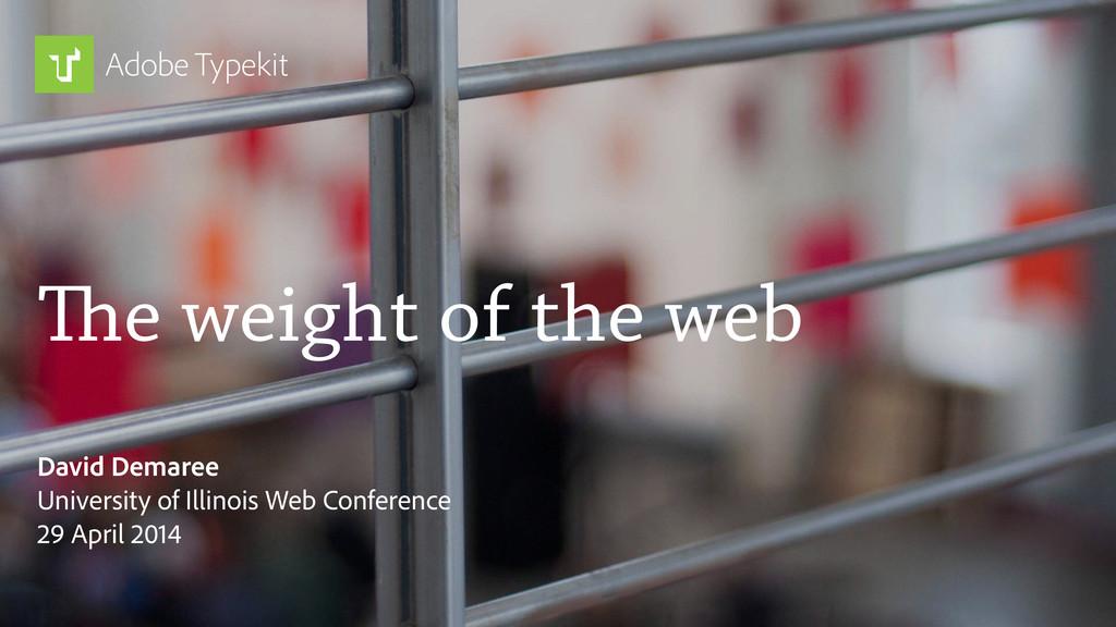 The weight of the web David Demaree University ...