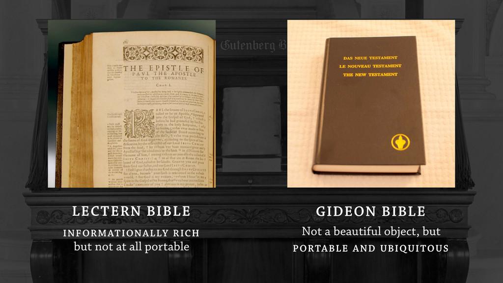 GIDEON BIBLE Not a beautiful object, but PORTAB...