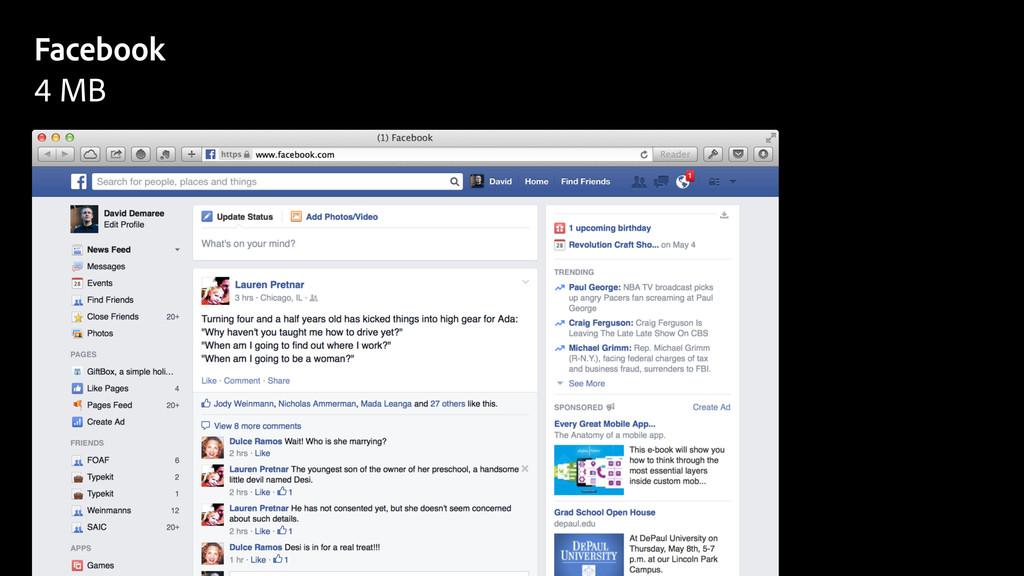 Facebook 4 MB