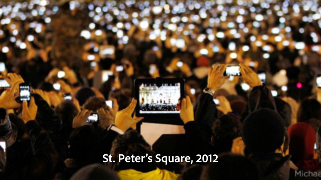 St. Peter's Square, 2012