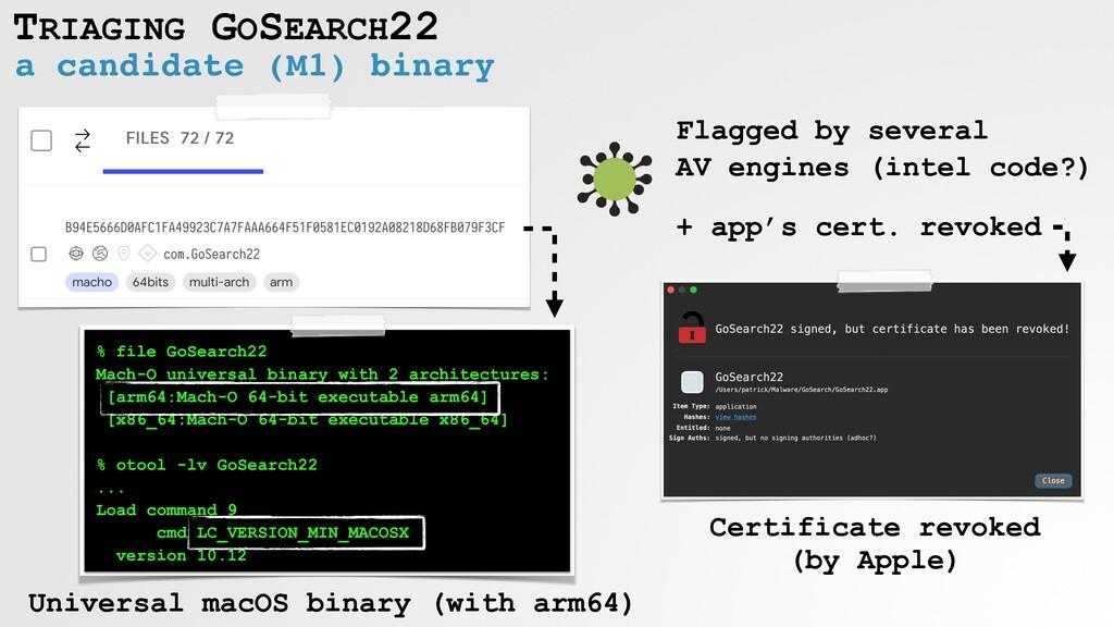 TRIAGING GOSEARCH22 a candidate (M1) binary % f...