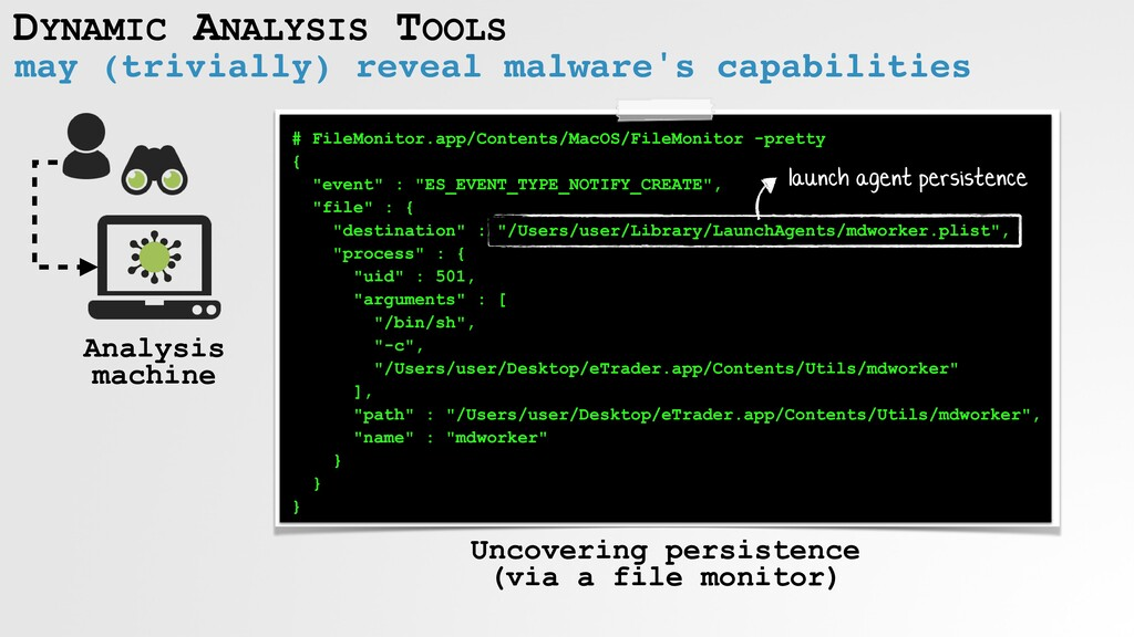 DYNAMIC ANALYSIS TOOLS may (trivially) reveal m...