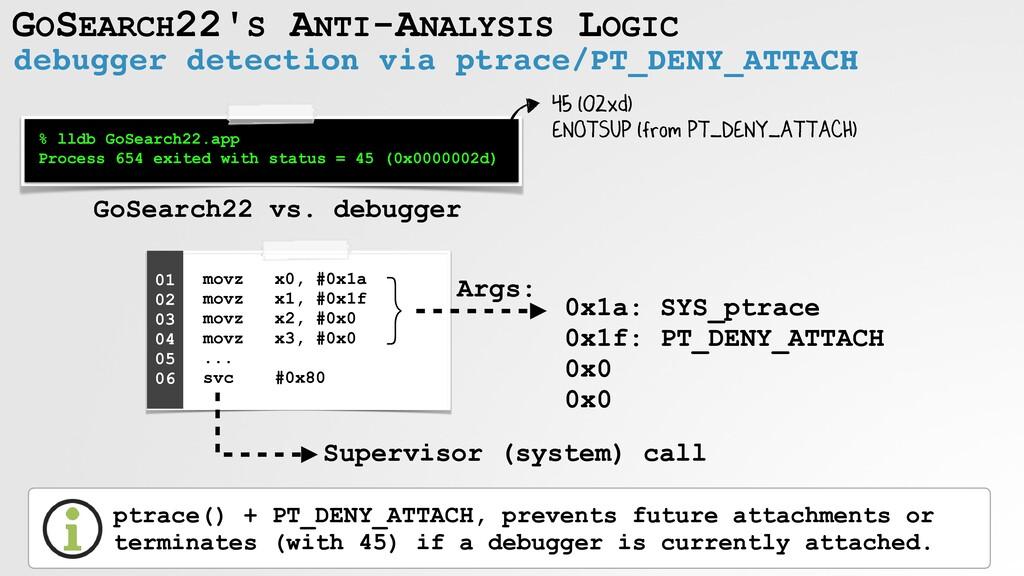 GOSEARCH22'S ANTI-ANALYSIS LOGIC debugger detec...