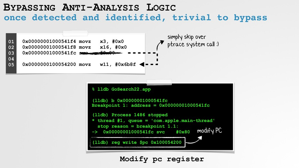 BYPASSING ANTI-ANALYSIS LOGIC once detected and...