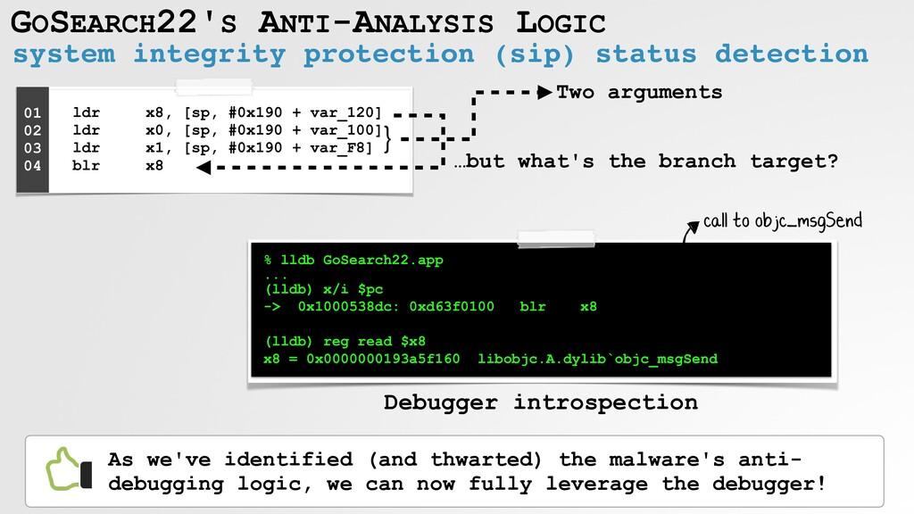 GOSEARCH22'S ANTI-ANALYSIS LOGIC system integri...