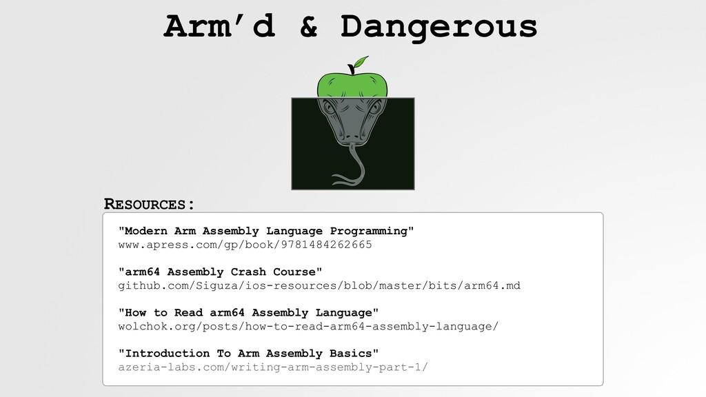 "RESOURCES: Arm'd & Dangerous ""Modern Arm Assemb..."