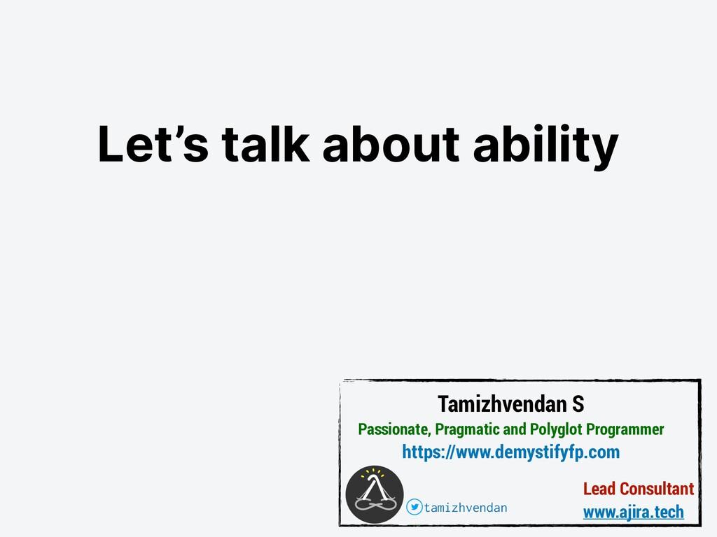 Lead Consultant www.ajira.tech Tamizhvendan S P...