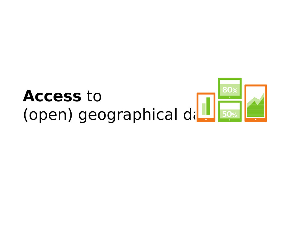 Access to (open) geographical data