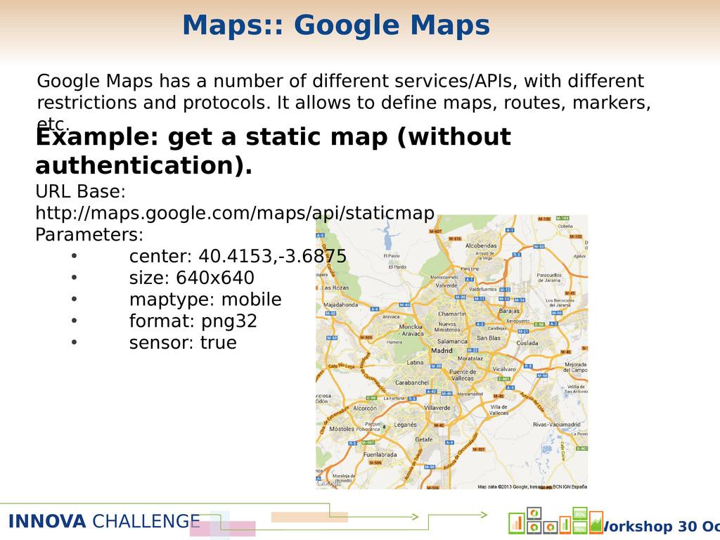 INNOVA CHALLENGE Workshop 30 Oc Maps:: Google M...