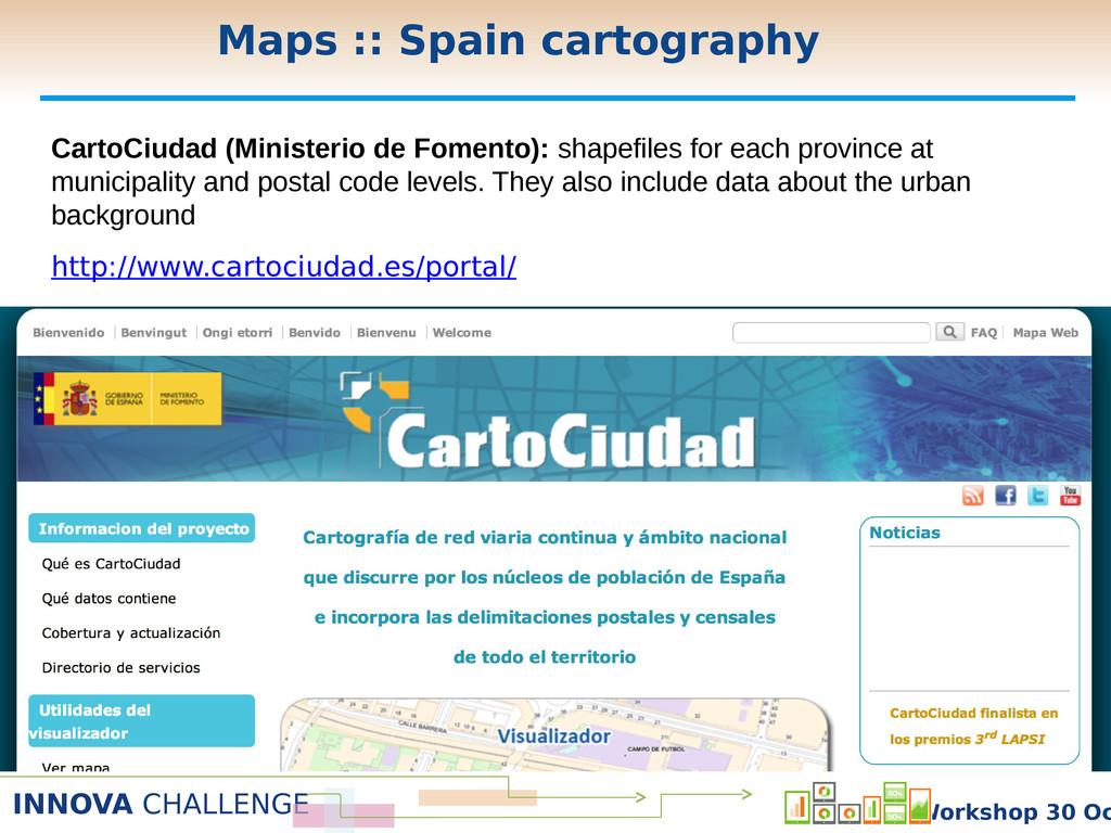 INNOVA CHALLENGE Workshop 30 Oc CartoCiudad (Mi...