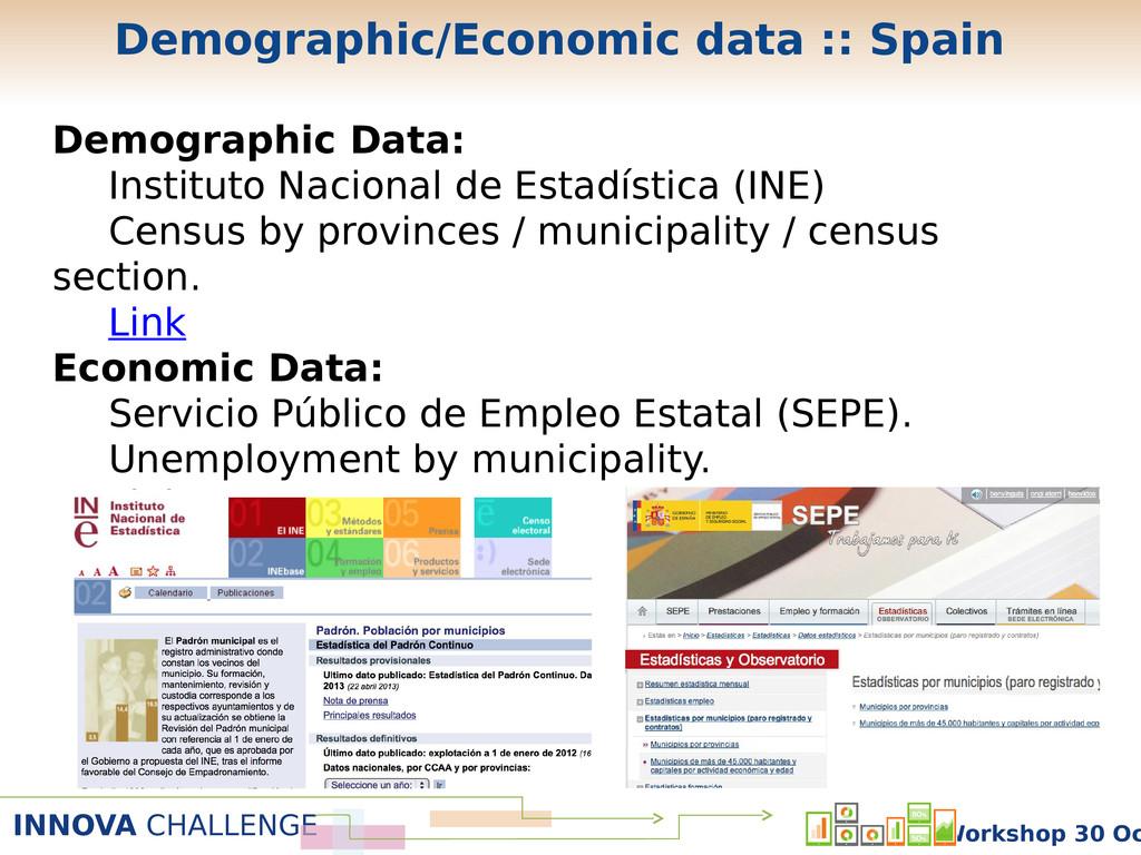 INNOVA CHALLENGE Workshop 30 Oc Demographic/Eco...
