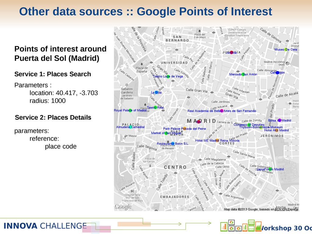 INNOVA CHALLENGE Workshop 30 Oc Points of inter...