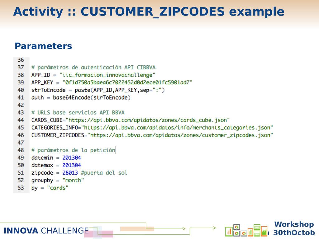 INNOVA CHALLENGE Workshop 30 Oc Parameters Work...