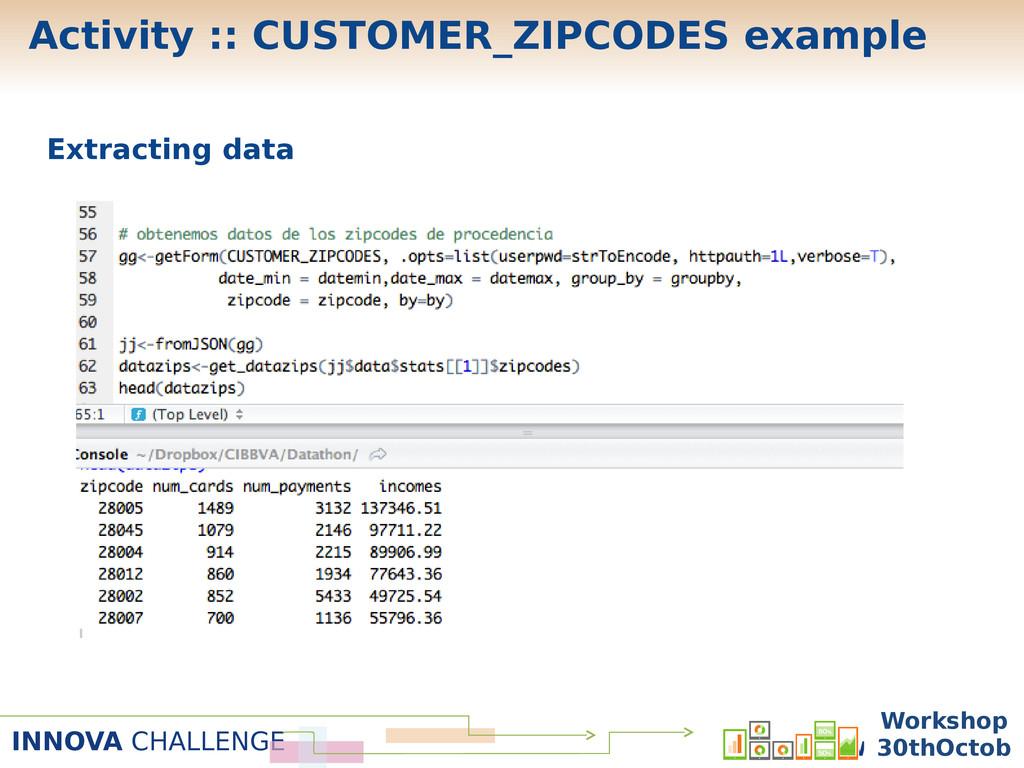INNOVA CHALLENGE Workshop 30 Oc Extracting data...