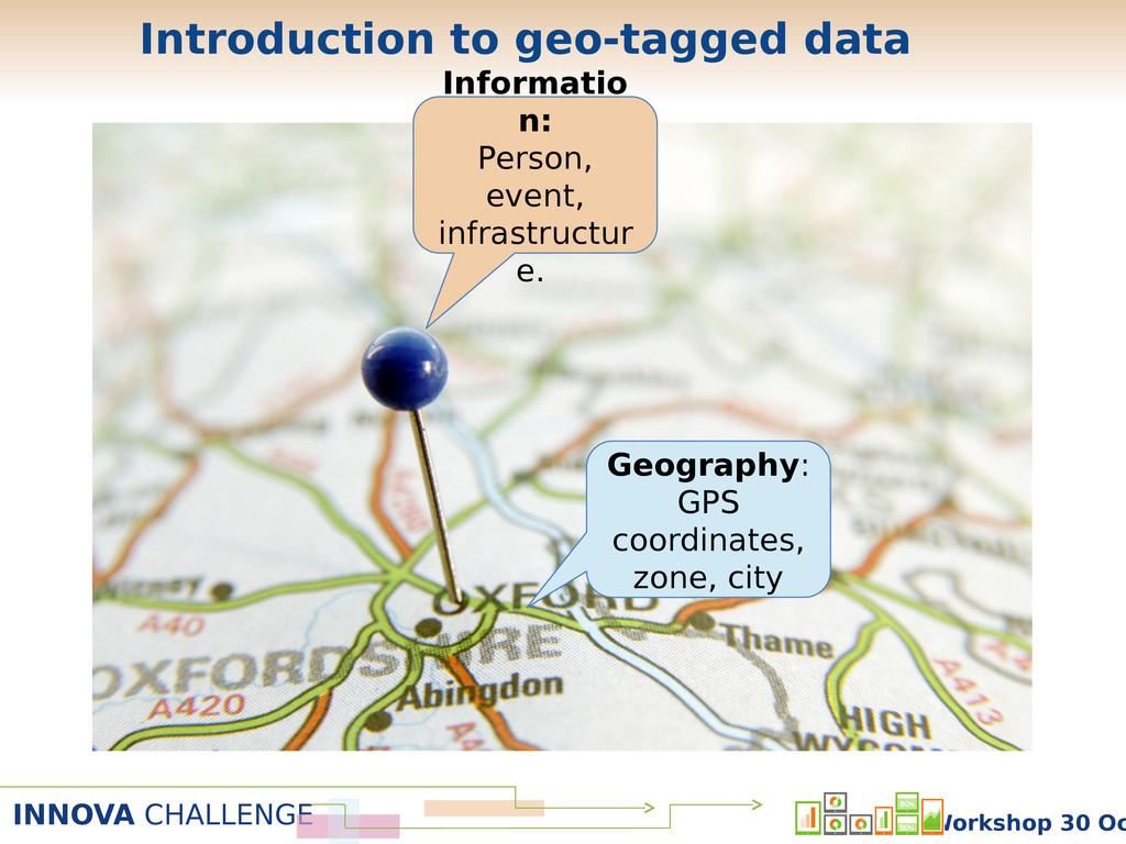INNOVA CHALLENGE Workshop 30 Oc Introduction to...
