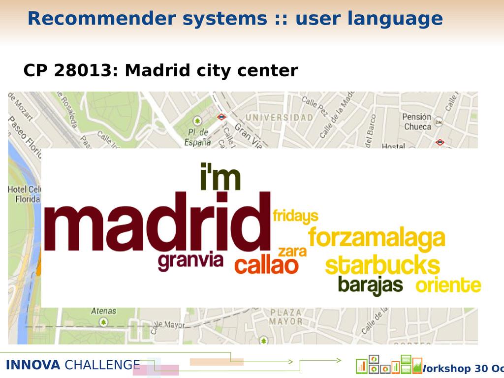 INNOVA CHALLENGE Workshop 30 Oc CP 28013: Madri...