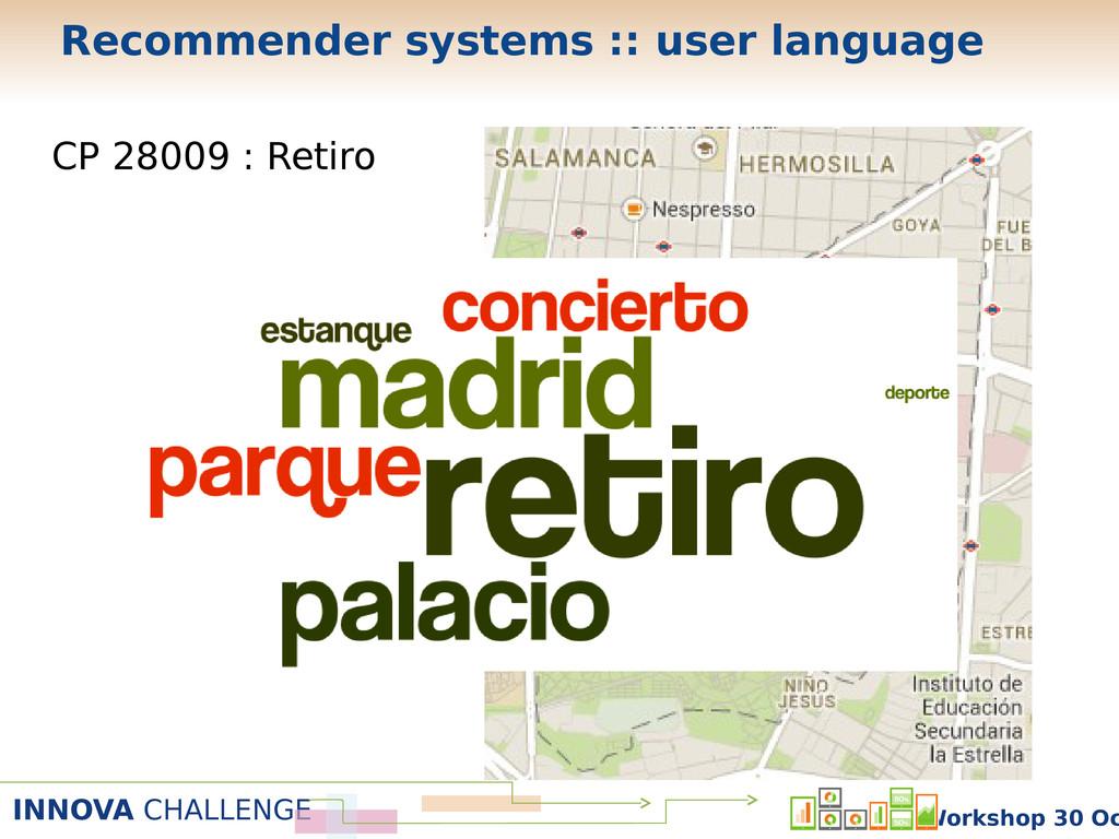 INNOVA CHALLENGE Workshop 30 Oc CP 28009 : Reti...