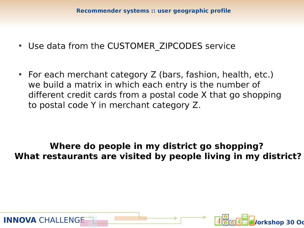 INNOVA CHALLENGE Workshop 30 Oc • Use data from...