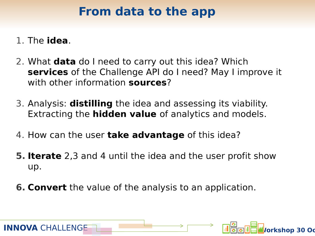 INNOVA CHALLENGE Workshop 30 Oc From data to th...