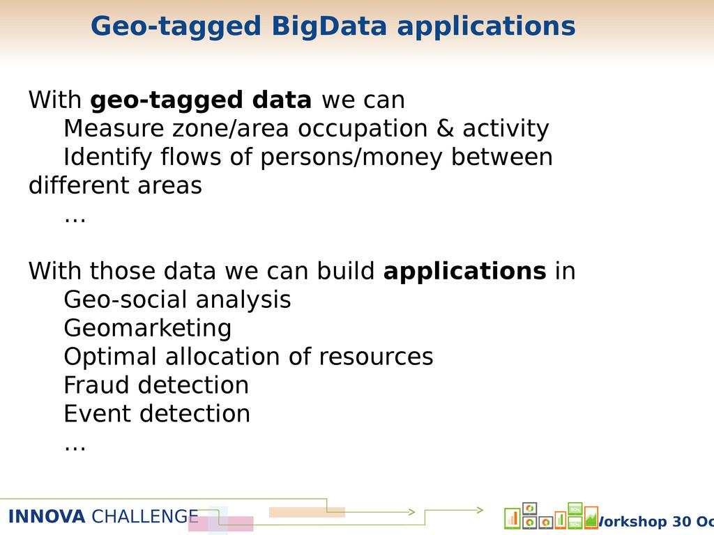 INNOVA CHALLENGE Workshop 30 Oc With geo-tagged...